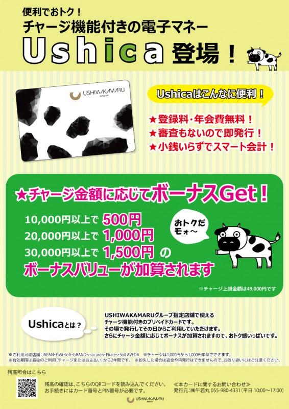 チャージ付電子マネー ushica