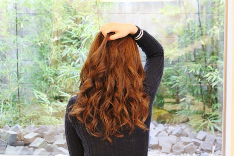 グランド函南町店美容師加納提案スタイル「クール大人可愛い!!さらふわセミディー」バック