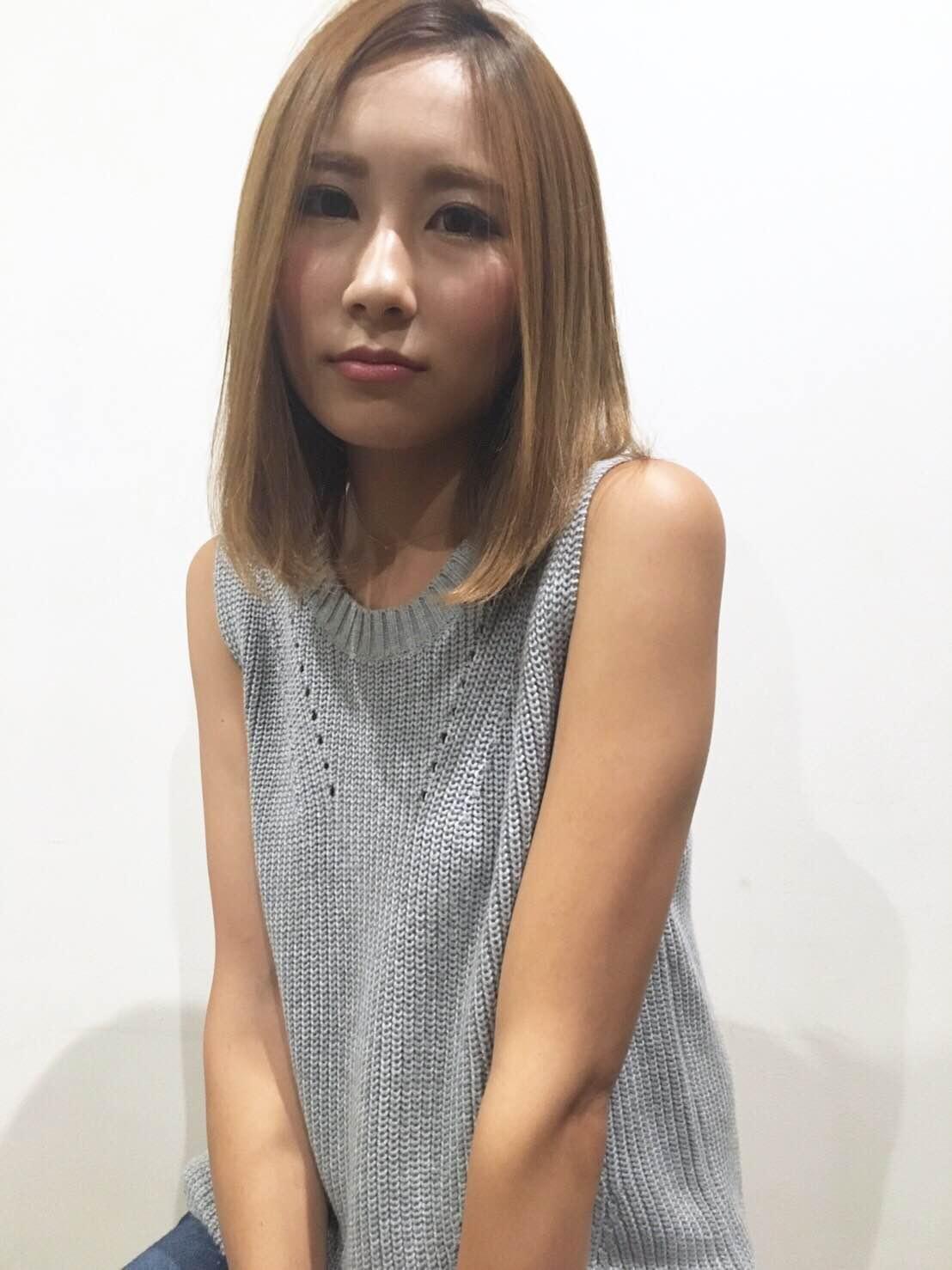 グランド三島・清水町店美容師木島「ナチュラル大人ロブ」正面