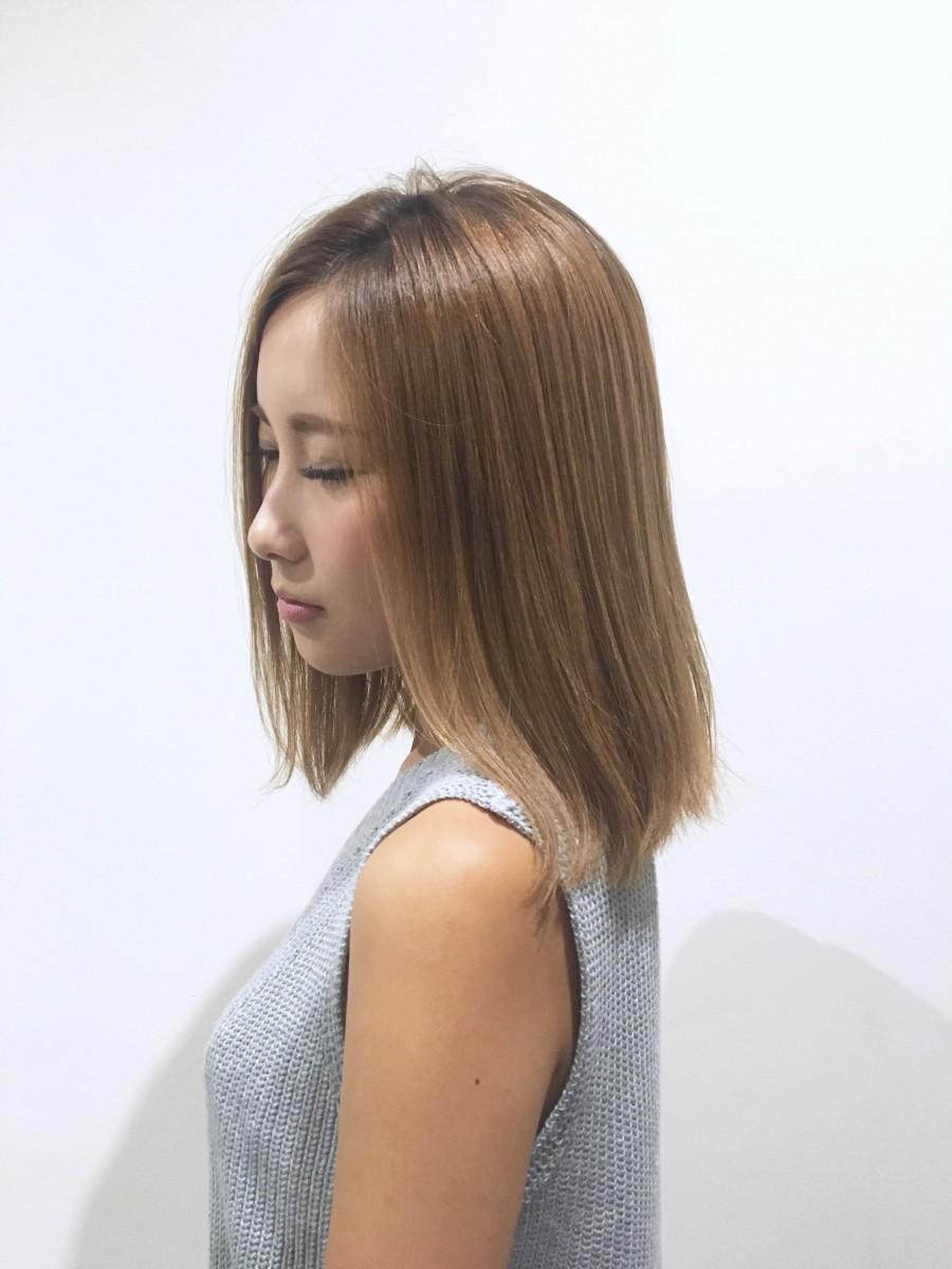 グランド三島・清水町店美容師木島「ナチュラル大人ロブ」サイド