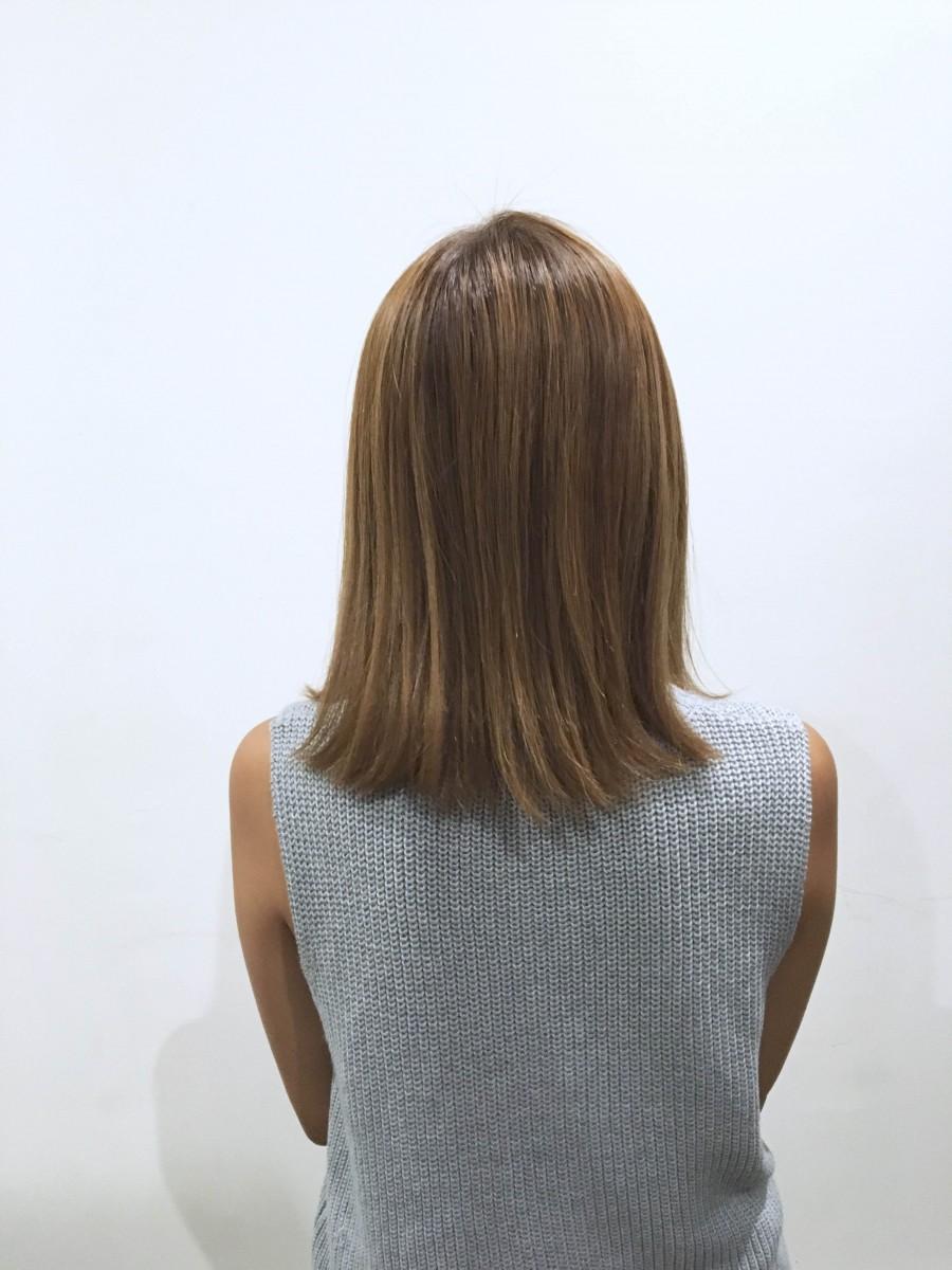 グランド三島・清水町店美容師木島「ナチュラル大人ロブ」バック