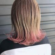 裾カラー×ピンク
