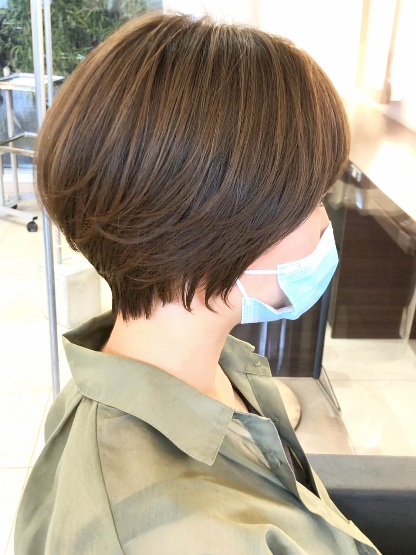【美髪矯正 山口】小顔束感ショートボブハイライトカラー